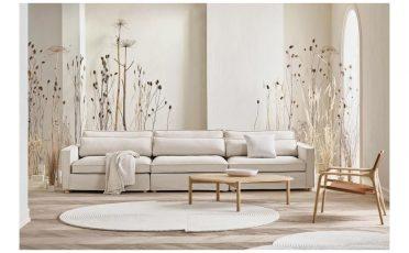 Bolia Aya 3 seater beige fabric sofa - Danish design co Singapore