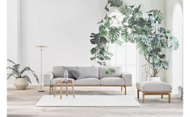 Bolia Elton fabric grey daybed and 3 seater sofa - Danish design co Singapore